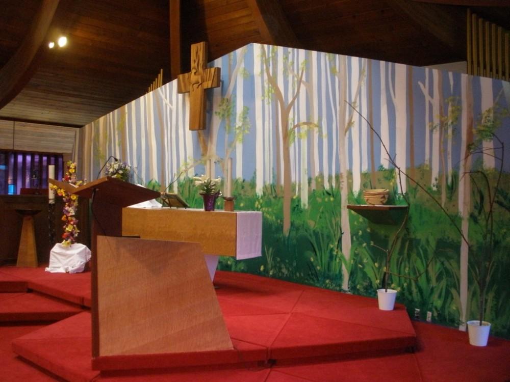 Easter Liturgical Art Sanctuary Wall 2011